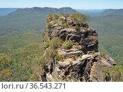 Three Sisters, Blue Mountains National Park, Australia. Стоковое фото, фотограф Zoonar.com/Alexander Ludwig / easy Fotostock / Фотобанк Лори