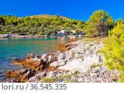 Katina island narrow sea passage in Kornati islands national park... Стоковое фото, фотограф Zoonar.com/Dalibor Brlek / easy Fotostock / Фотобанк Лори
