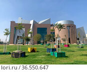 Creatively decorated square in front of the city theater in Beer Sheva. Редакционное фото, фотограф Irina Opachevsky / Фотобанк Лори