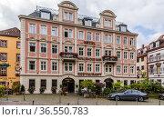 Гейдельберг, Германия. Историческое здание отеля Heidelberger Hof (2017 год). Редакционное фото, фотограф Rokhin Valery / Фотобанк Лори