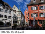 Meersburg, Baden-Wuerttemberg, Deutschland| Meersburg, Baden-Wuerttemberg... Стоковое фото, фотограф Zoonar.com/Günter Lenz / age Fotostock / Фотобанк Лори