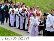 Katholische Prozession am 1. Mai in Jachenau, Bayern. Стоковое фото, фотограф Zoonar.com/Wolfilser / age Fotostock / Фотобанк Лори