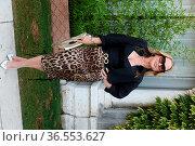 The singer Anastacia arrives at the Darsena of Hotel Excelsior Lido... Редакционное фото, фотограф Maria Laura Antonelli / AGF/Maria Laura Antonelli / age Fotostock / Фотобанк Лори