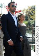 Ben Affleck and Jennifer Lopez arrive at the 78th Venice Film Festival... Редакционное фото, фотограф Maria Laura Antonelli / AGF/Maria Laura Antonelli / age Fotostock / Фотобанк Лори