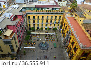 View over Malaga city centre from the roof of the Cathedral, on the... Стоковое фото, фотограф Frederic Soreau / age Fotostock / Фотобанк Лори