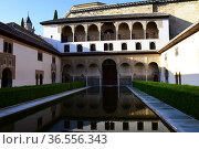 Nasrid Palaces in the Alhambra, Granada, Andalusia,Spain. Стоковое фото, фотограф Frederic Soreau / age Fotostock / Фотобанк Лори