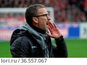 Lautstarke Anweisungen vom neuen Coach: Trainer Marco Kurz (Düsseldorf... Стоковое фото, фотограф Zoonar.com/Joachim Hahne / age Fotostock / Фотобанк Лори