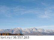 Ausblick vom Monte Palon in Richtung des Brentagebirges. Стоковое фото, фотограф Zoonar.com/Hans Eder / easy Fotostock / Фотобанк Лори