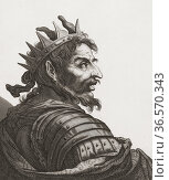 Attila the Hun, c. 406 - c. 453. Leader of the Huns who eventually... Редакционное фото, фотограф Classic Vision / age Fotostock / Фотобанк Лори