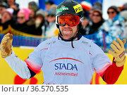 Nick BAUMGARTNER (CAN) freut sich diebisch über Rang fünf beim FIS... Стоковое фото, фотограф Zoonar.com/Joachim Hahne / age Fotostock / Фотобанк Лори