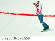 Souverän: Samkova Eva(Tschechien) feiert ihren souveränen Sieg beim... Стоковое фото, фотограф Zoonar.com/Joachim Hahne / age Fotostock / Фотобанк Лори