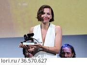 Maggie Gyllenhaal during closing Ceremony - 78th Venice International... Редакционное фото, фотограф Bildbyran via ZUMA Press/Maria Laura Antonelli / age Fotostock / Фотобанк Лори