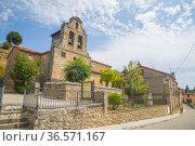 San Nicolas church. Muriel de la Fuente, Soria province, Castilla... Стоковое фото, фотограф María Galán / age Fotostock / Фотобанк Лори