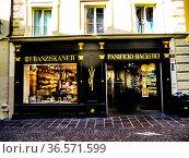 Famous bakery / Baekerei in Bolzano, Bozen, Dolomites, Alpine mountain... Стоковое фото, фотограф Angelo Calvino / age Fotostock / Фотобанк Лори