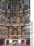 Calahorra, Cathedral of Santa Maria (17th century). Baroque altarpiece... Стоковое фото, фотограф J M Barres / age Fotostock / Фотобанк Лори