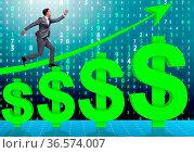 The businessman in american dollar concept. Стоковое фото, фотограф Zoonar.com/Elnur Amikishiyev / easy Fotostock / Фотобанк Лори