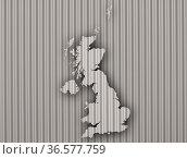 Karte von Großbritannien auf Wellblech - Map of Great Britain on corrugated... Стоковое фото, фотограф Zoonar.com/lantapix, / easy Fotostock / Фотобанк Лори