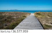 Beautiful beach Playa de A Lanzada close to O Grove, coast of Galicia... Стоковое фото, фотограф Zoonar.com/Alexander Ludwig / easy Fotostock / Фотобанк Лори