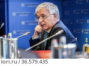 Italian Minister of Economy and Finance Daniele Franco during the... Редакционное фото, фотограф Nicola Marfisi / AGF/Nicola Marfisi / AGF / age Fotostock / Фотобанк Лори
