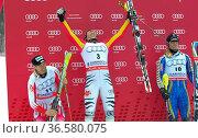 Felix Neureuther, Siegerehrung, Fis-Weltcupfinale, 2010, Garmisch... Стоковое фото, фотограф Zoonar.com/GUENTER LENZ / age Fotostock / Фотобанк Лори