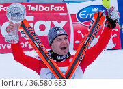 Reinfried Herbst, Siegerehrung, Fis-Weltcupfinale, 2010, Garmisch... Стоковое фото, фотограф Zoonar.com/GUENTER LENZ / age Fotostock / Фотобанк Лори