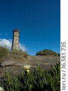 Leuchtturm am Ponta dos Capelinhos, Faial, Azoren, Portugal, Europa... Стоковое фото, фотограф Zoonar.com/Günter Lenz / age Fotostock / Фотобанк Лори