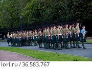Schottisches Garde Regiment, Edinbugh, Schottland | Scotland. Стоковое фото, фотограф Zoonar.com/GUENTER LENZ / age Fotostock / Фотобанк Лори