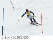Felix Neureuther, FIS Ski Weltcup Slalom der Herren, Kandahar-Rennen... Стоковое фото, фотограф Zoonar.com/Günter Lenz / age Fotostock / Фотобанк Лори