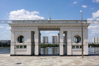 Один из причалов Северного речного вокзала в Москве
