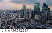 Tokyo night scene. ARK Hills as seen from the Tokyo Tower at night time. Tokyo. Japan. Стоковое видео, видеограф Serg Zastavkin / Фотобанк Лори