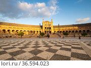 The Plaza de Espana in Seville (2019 год). Стоковое фото, фотограф Юлия Белоусова / Фотобанк Лори