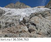 Glacier Blanc, Ecrins, Hautes Alpes, France, August. Стоковое фото, фотограф Pascal  Tordeux / Nature Picture Library / Фотобанк Лори