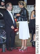 Julia Ducournau, Vincent Lindon attended 'Titane' Red Carpet during... Редакционное фото, фотограф ©MANUEL CEDRON / age Fotostock / Фотобанк Лори