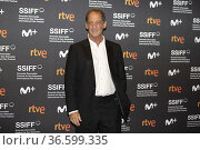 Vincent Lindon attends to 'Titane' premiere during the 69th San Sebastian... Редакционное фото, фотограф NACHO LOPEZ / age Fotostock / Фотобанк Лори