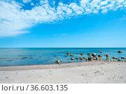 Menschenleerer Strand an der Küste der Insel Öland, Schweden. Empty... Стоковое фото, фотограф Zoonar.com/Kai Schirmer / easy Fotostock / Фотобанк Лори
