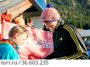 Glück gehabt: Dieser Junge holte sich vor dem Wettkampf noch ein ... Стоковое фото, фотограф Zoonar.com/Joachim Hahne / age Fotostock / Фотобанк Лори