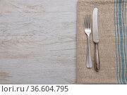 Altes Besteck auf Leinentuch - Old cutlery on cloth. Стоковое фото, фотограф Zoonar.com/lantapix / easy Fotostock / Фотобанк Лори