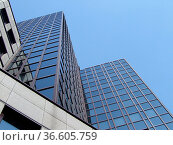 Bürogebäude, business,Hochhaus, Frankfurt, wolkenkratzer, fassade... Стоковое фото, фотограф Zoonar.com/Volker Rauch / easy Fotostock / Фотобанк Лори