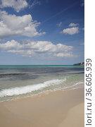Sandstrand, strand, welle, wellen, meer, gischt, brandung, wasser... Стоковое фото, фотограф Zoonar.com/Volker Rauch / easy Fotostock / Фотобанк Лори