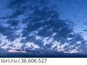 Clouds at sunrise. Almansa. Albacete, Spain, Europe. Стоковое фото, фотограф Antonio Real / age Fotostock / Фотобанк Лори