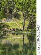 Source of Arroyo Frío. Gossips. Calares del Mundo and La Sima Natural... Стоковое фото, фотограф Antonio Real / age Fotostock / Фотобанк Лори