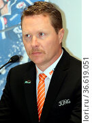 Trainer Mike Stewart (Augsburg Panther), DEL 15-16, 23. Sptg.: SERC... Стоковое фото, фотограф Zoonar.com/Joachim Hahne / age Fotostock / Фотобанк Лори