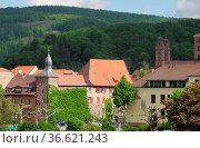 Blauer Hut, Eberbach, Neckar, Eberbach, baden-württemberg, altstadt... Стоковое фото, фотограф Zoonar.com/Volker Rauch / easy Fotostock / Фотобанк Лори
