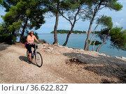 Rad,rad fahren,radfahren,radfahrerin,farrad,fahrradtour,Rovinj, Istrien... Стоковое фото, фотограф Zoonar.com/Volker Rauch / easy Fotostock / Фотобанк Лори