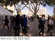 Studierende auf dem Campus der Universität von Malta, Foto: Robert... Стоковое фото, фотограф Zoonar.com/Robert B. Fishman / age Fotostock / Фотобанк Лори