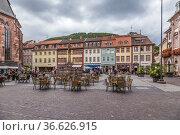 Гейдельберг, Германия. Красивый вид Рыночной площади (Marktplatz) (2017 год). Редакционное фото, фотограф Rokhin Valery / Фотобанк Лори