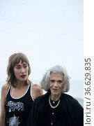 Almudena Amor, Vera Valdez attended 'The grandmother' Photocall during... Редакционное фото, фотограф ©MANUEL CEDRON / age Fotostock / Фотобанк Лори