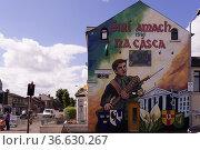 Wandbild in Belfast erinnert an den irischen Aufstand von 1916 gegen... Стоковое фото, фотограф Zoonar.com/Robert B. Fishman / age Fotostock / Фотобанк Лори