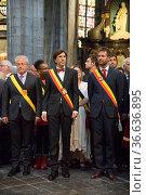 Der belgische Premierminister und Ober- Bürgermeister von Mons Elio... Стоковое фото, фотограф Zoonar.com/Robert B. Fishman / age Fotostock / Фотобанк Лори