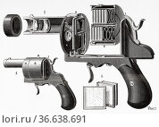 The Photo-Revolver de Poche. Theophile-Ernest Enjalbert produced ... Редакционное фото, фотограф Jerónimo Alba / age Fotostock / Фотобанк Лори